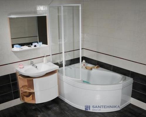 Ванна акриловая угловая Ravak Rosa 150x105 левая (с аксессуарами) 153238